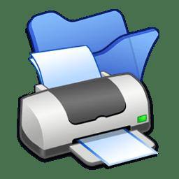 folder blue printer icon