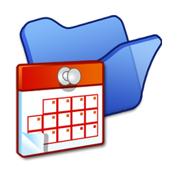 Folder blue scheduled tasks icon