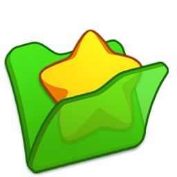 Folder green favourite icon