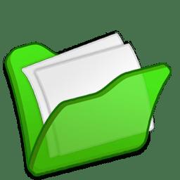 Folder green mydocuments icon