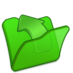 folder green parent icon