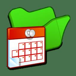 Folder green scheduled tasks icon