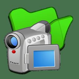 Folder green videos icon