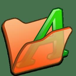 Folder orange font1 icon