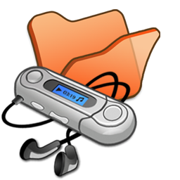 folder orange mymusic icon