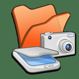 folder orange scanners cameras icon