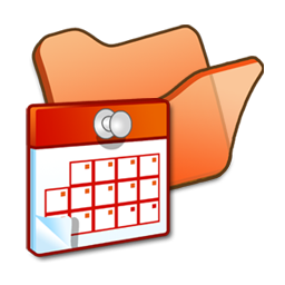 folder orange scheduled tasks icon