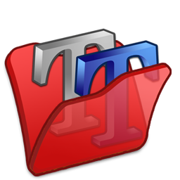 folder red font2 icon