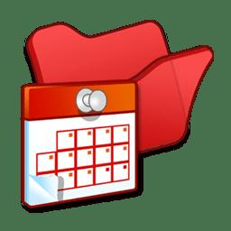Folder red scheduled tasks icon