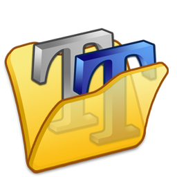 folder yellow font2 icon