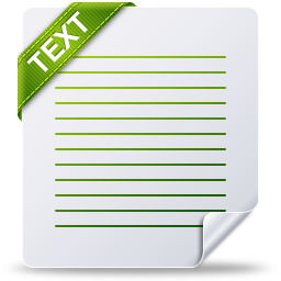 Text Icon | File Type Iconset | Treetog ArtWork Text Icon Png