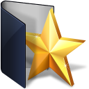 folder blue favs icon