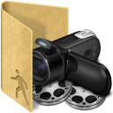 folder public movies icon