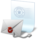 Seal secure email icon