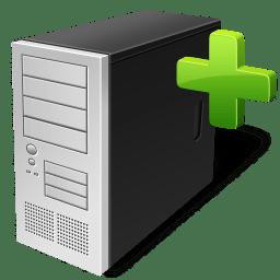 Computer add icon