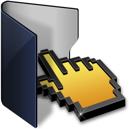 folder blue click icon