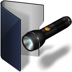 folder blue pocket lamp icon