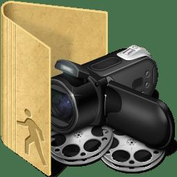 Folder public movies icon