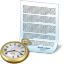 Document clock icon