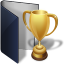 Folder-blue-award icon