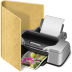 Folder-printer icon
