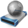 Drive-network-off icon