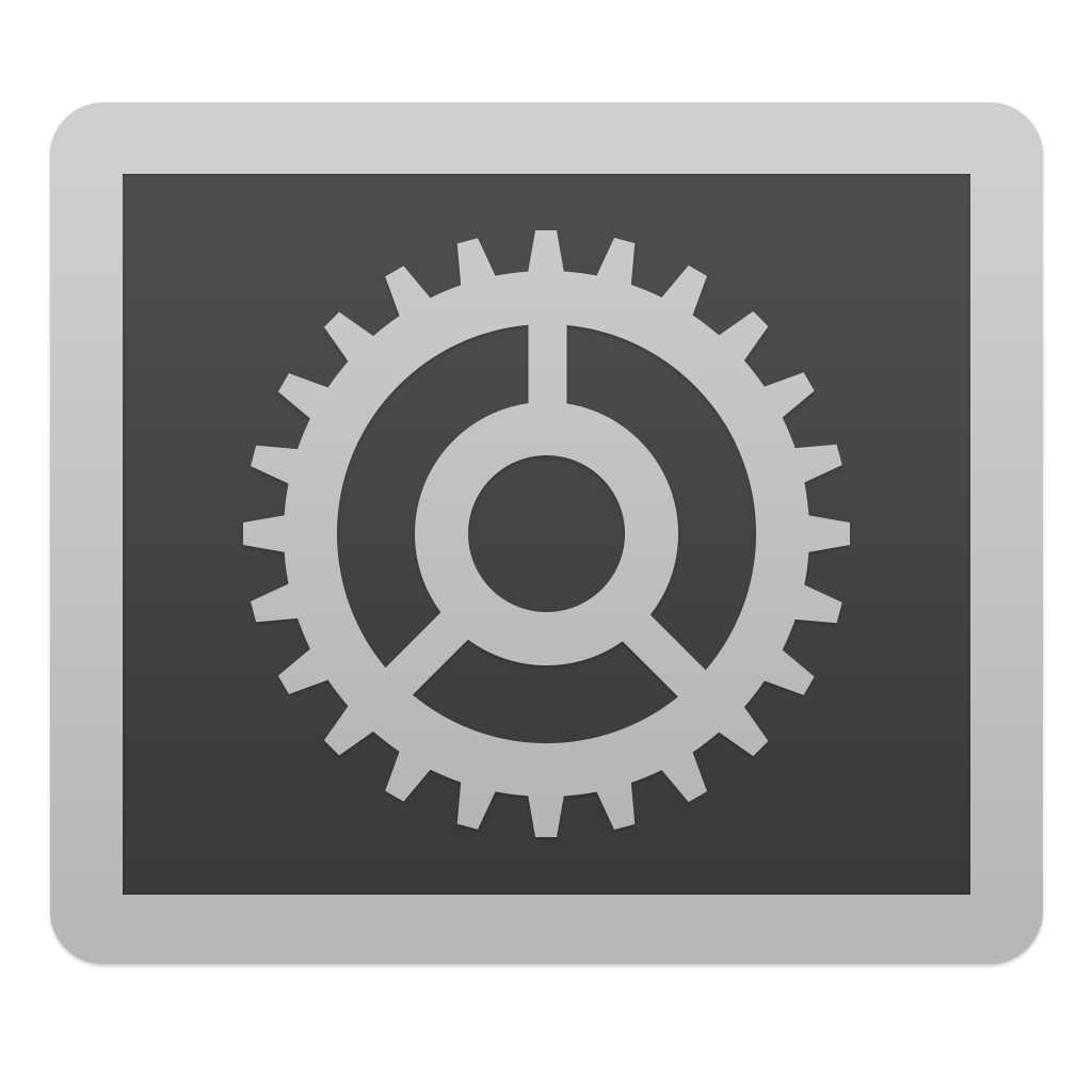 Cool System Preferences Icon Download PNG  1024px