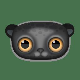 Black leopard icon