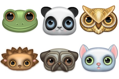 Zoom Eyed Creatures Icons