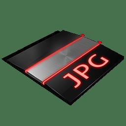 Jpg file Icon | Profesional Red Iconset | Tuziibanez