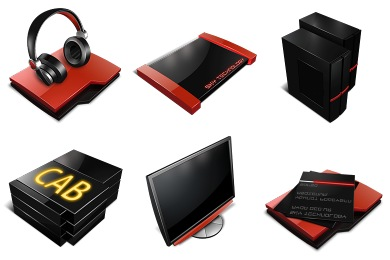 Profesional Red Icons