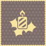 Candle-holly icon
