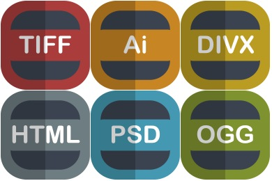 Free Flat File Type Icons