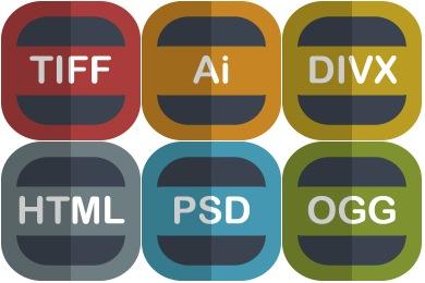 Free Flat File Type Icons