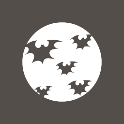 Halloween Bat Moon icon