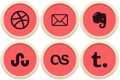 Flatin Social Icons