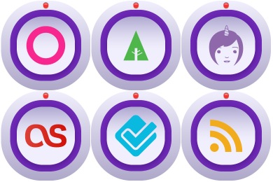 Mini Camera Social Media Icons