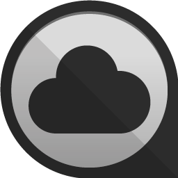 Cloud app Icon | Round Edge Social Iconset | uiconstock