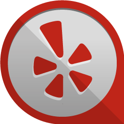 yelp icon round edge social iconset uiconstock