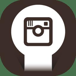 Instagram Icon Round Papercut Social Iconset Uiconstock