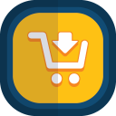 Shoppingcart 03 arrow down icon