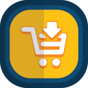 Shoppingcart 09 arrow down icon