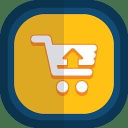 Shoppingcart 07 arrow up icon