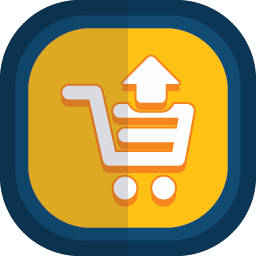 Shoppingcart 10 arrow up icon
