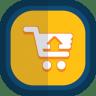 Shoppingcart-07-arrow-up icon