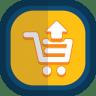 Shoppingcart-10-arrow-up icon