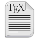 Text-x-tex icon