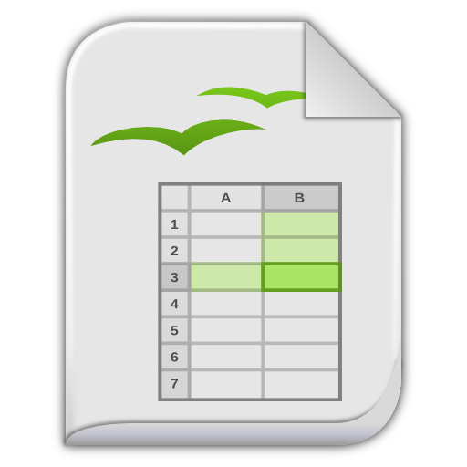 app vnd oasis opendocument spreadsheet icon