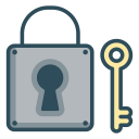 Key lock icon