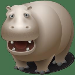 Hippopotamus icon